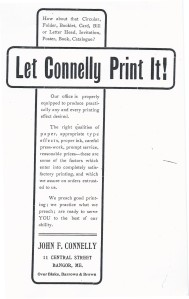 JF Connelly ad